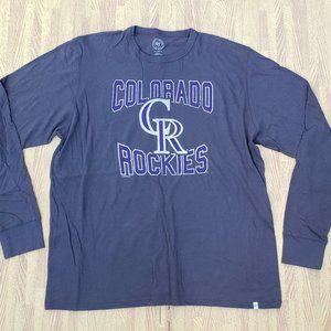 Colorado Rockies '47 Long Sleeve Gray Shirt MLB
